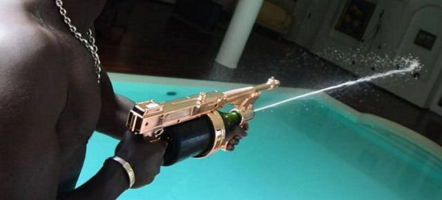 That's the amzing gun that shoots champagne