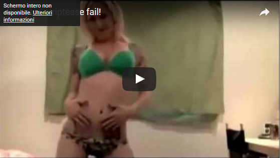 Striptease fail - When stripping becomes embarrassing