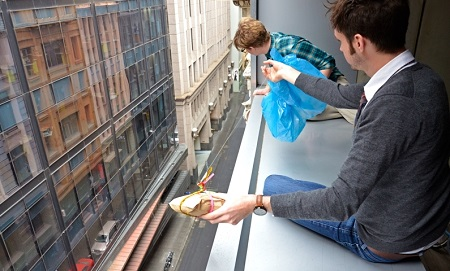 Sandwiches delivered by parachute, In Australia a new, truly original idea
